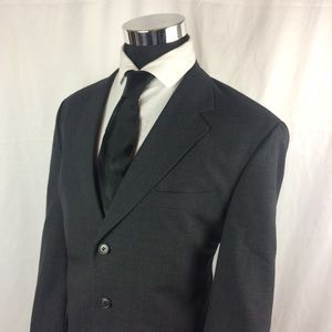 Jos A Bank Mens 44R Blazer 3 But Wool Charcoal